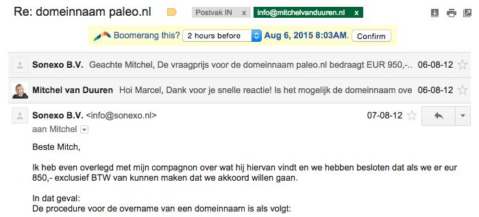 Domeinnaam overname Paleo.nl