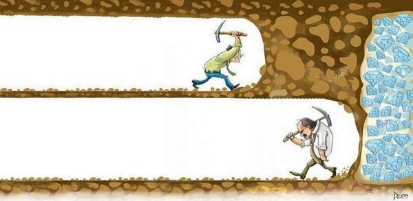 Als je je omzet wilt verdubbelen geef dan niet te snel op.